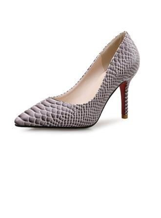 Femmes Similicuir Talon stiletto Escarpins avec La copie Animale chaussures