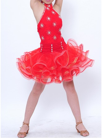 Niños Ropa de danza poliéster Danza Latina Vestidos