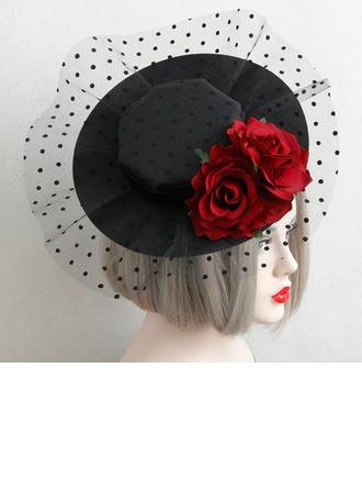 Dames Style Vintage Printemps/Automne/Hiver Coton/Dentelle avec Chapeaux de type fascinator