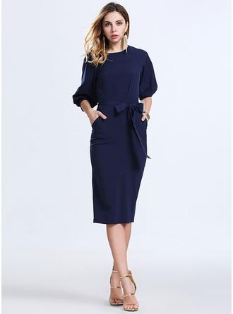 Spandex/Polypropylene With High temperature setting Knee Length Dress