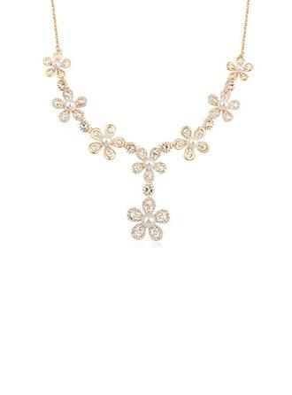 Exquis Alliage/Plaqué or avec Pearl Dames Colliers