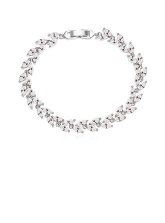 Gentil Zircon de/Platine plaqué Dames Bracelets