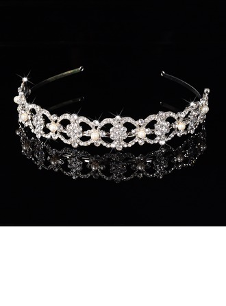 Gorgeous Rhinestone/Alloy/Imitation Pearls Tiaras/Headbands