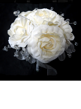 Pur Attaché à la main Satin Bouquets de Mariée