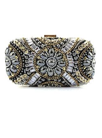 Fashional Satin/Crystal/ Rhinestone Clutches/Fashion Handbags