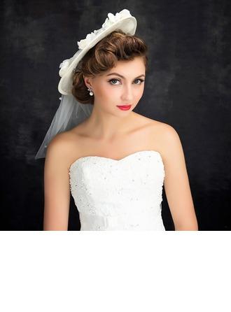 Dames Style Classique Fil net/Lin avec Une fleur Chapeaux de type fascinator