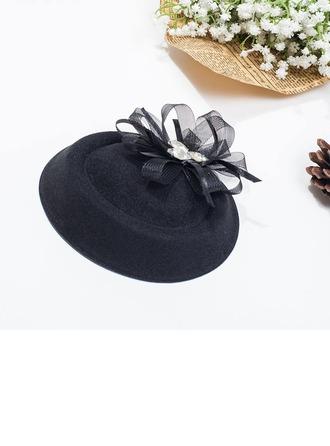 Dames Belle Automne/Hiver Fil net avec Chapeau melon / Chapeau cloche