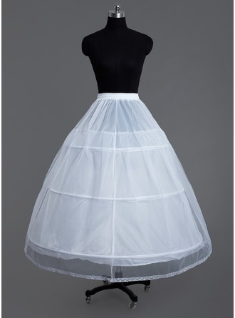 Women Tulle Netting/Polyester 2 Tiers Petticoats