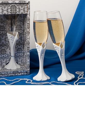 Sculptée lis calla Conception Flûtes à champagne
