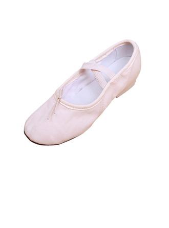 Femmes Enfants Toile Talons Ballet Chaussures de danse