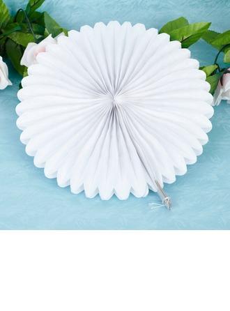 """10""""(25cm) Pur/Éventails Fleurs en papier"""
