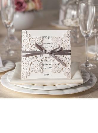 Florales Estilo Puerta-Doble Invitation Cards (Juego de 50)