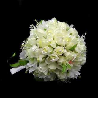 élégant Attaché à la main Satin/Coton Bouquets de Mariée