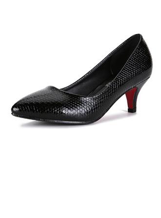 Similicuir Talon stiletto Escarpins Bout fermé avec La copie Animale chaussures