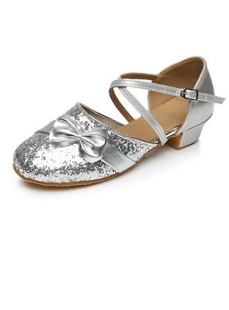 Femmes Enfants Pailletes scintillantes Talons Escarpins Modern Style avec Lanière de cheville Chaussures de danse