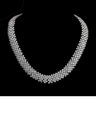 Gorgeous Copper/Zircon Women's/Ladies' Necklaces