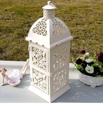 Jolie Design de fleur Fer Lanterne à bougie