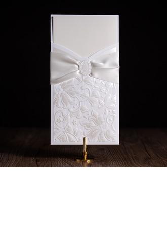 Personalizado Florales Estilo Wrap & Pocket Invitation Cards