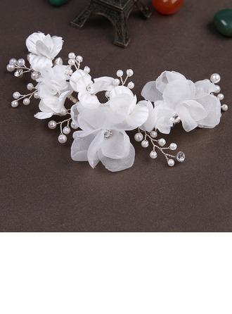 Stylish Imitation Pearls/Artificial Silk Flowers & Feathers/Headbands