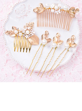 Glamour Plaqué or épingles à cheveux/Des peignes et barrettes (Lot de 5 pièces)