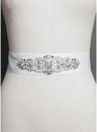 Attractive Satin With Rhinestones Imitation Pearls Sashes/Belt