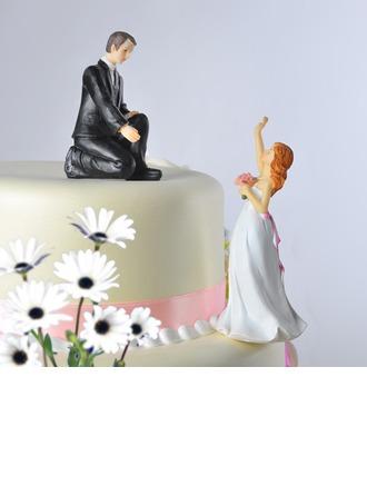 Couple classique/Drôle et réticent Décoration pour gâteaux