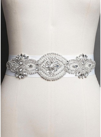 Beautiful Women Satin With Rhinestones Imitation Pearls Sashes