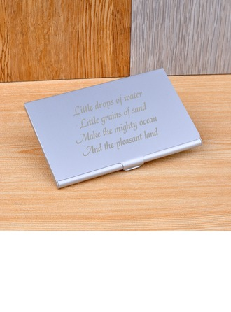 personnalisé Design simple Acier inoxydable Caisse de Carte