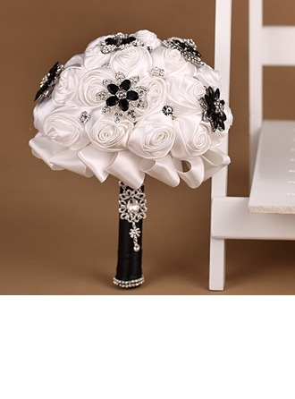 Elegant Satin Bridal Bouquets