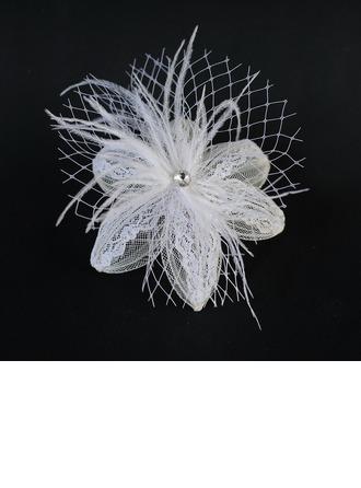 Mode Feather/Dentelle Chapeaux de type fascinator