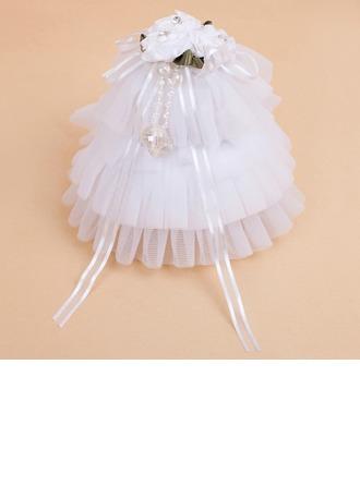 Délicat Boîte de bague avec Rubans/De faux pearl