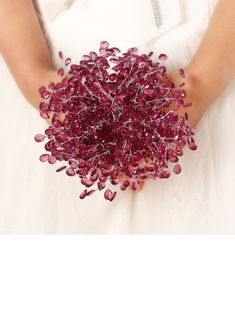 Pretty Round Acrylic Bridal Bouquets/Bridesmaid Bouquets