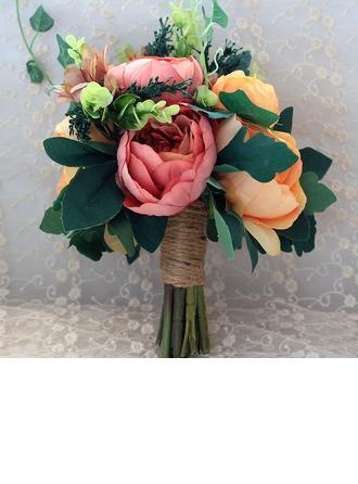 Attrayant Attaché à la main Soie artificielle/Linge Corde Bouquets de mariée