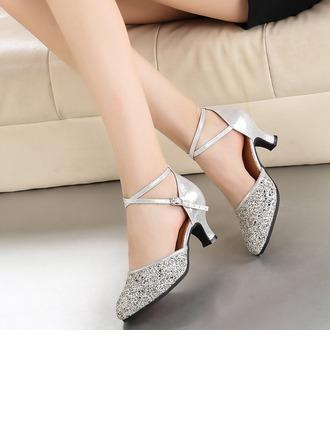 Femmes Similicuir Pailletes scintillantes Talons Modern Style Chaussures de danse