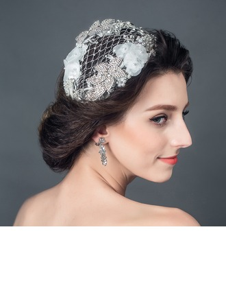 Glamour Strass/De faux pearl/Fil net Chapeaux de type fascinator