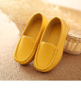 Girl's Leatherette Flat Heel Round Toe Flats