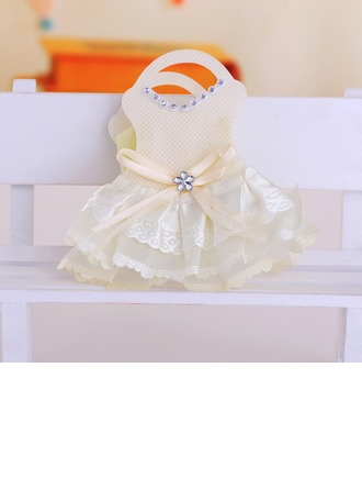 Diseño del Vestido del Bebé Bolsos de regalos con Cintas (Juego de 12)