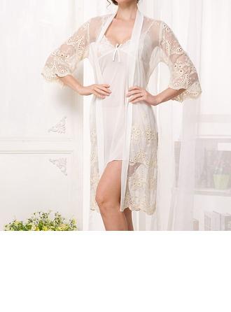 Polyester/Chiffon Feminine Sleepwear(Including Chemise And Robe)