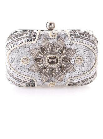Único Cristal / Diamante/Rhinestone/Perlas de imitación Bolso Claqué/Funda de Monedas Para Bodas