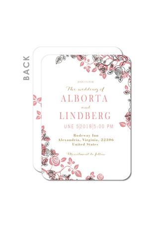 Style Vintage Carte plate Cartes d'invitations