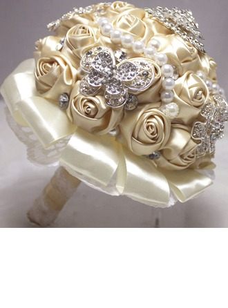 Attractive Round Satin/Ribbon Bridal Bouquets