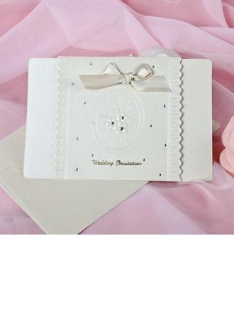 Style Florale Pli horizontal Invitation Cards avec Arcs