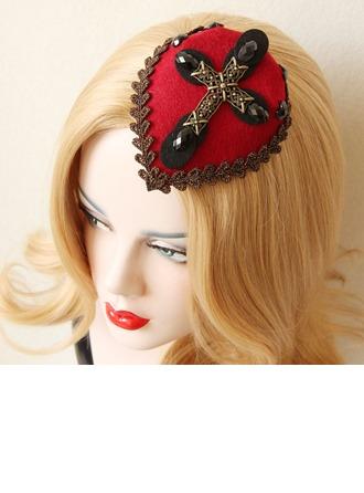 Dames Style Vintage Printemps/Automne/Hiver Coton/Dentelle avec Pearl Béret Chapeau