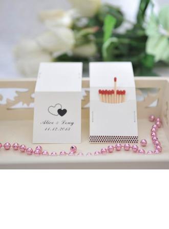 personnalisé Doubles Coeurs Carte papier épais Boîte d'Allumettes Personnalisée