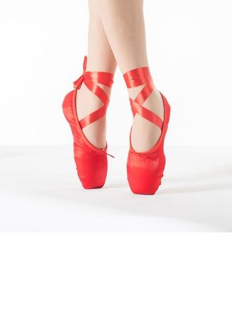 Femmes Satiné Chaussures plates Ballet Pratique avec Dentelle Chaussures de danse