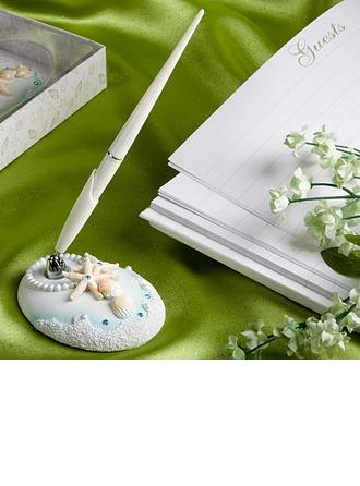 Beach Theme Starfish and Seashell Pen Set