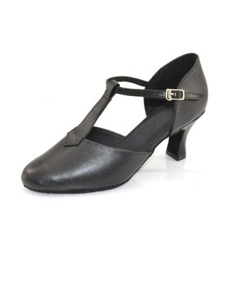 Femmes Vrai cuir Talons Escarpins Modern Style avec Lanière en T Chaussures de danse