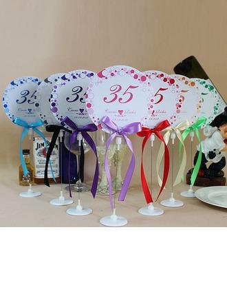 personnalisé Conception Florale Papier Cartes porte-nom avec chevalet avec Rubans