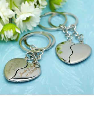 personnalisé Embrassant Coeurs Acier inoxydable Portes-clés