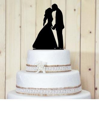 Figurine Baisers des couples Acrylique Mariage Décoration pour gâteaux/Douche nuptiale Décoration pour gâteaux